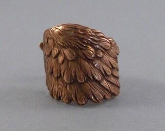 Rose Gold Wing,Ring,Rose Gold,Rose Gold Feather,Wing Ring,Antique Ring,Rose Gold Ring,Angel Wing,Wedding,Bridesmaid valleygirldesigns.