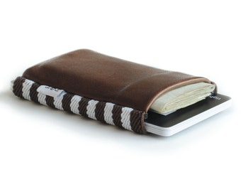 Cowman 2.0 - Slim minimalist elastic and leather wallet / cardholder designed by TGT (Tight)