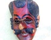 Vintage Mexican Folk Art Traditional Dance Mask 'The Conquistador' or 'El Patroni'