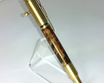 premium Buckeye Burl bolt action Pen check code for free shipping