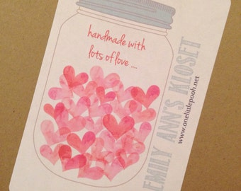 handmade with lots of love fabric labels