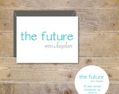 The Future Mrs, Bridal Shower, Bridal Shower Thank  You Cards, Soon To Be Mrs, Future Mrs, Affordable Weddings, Thank You Cards