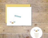 Baby Announcements, Spring Baby Announcements, New Baby Cards, Easter Baby Announcements, Hatching Egg Baby Announcements