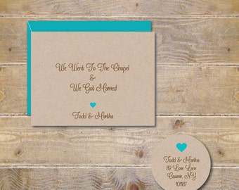 Wedding Thank You Cards, Rustic  Wedding Cards, Going To The Chapel. Hearts, Heart Wedding,  Bridal Shower Thank You Cards, Outdoor Wedding