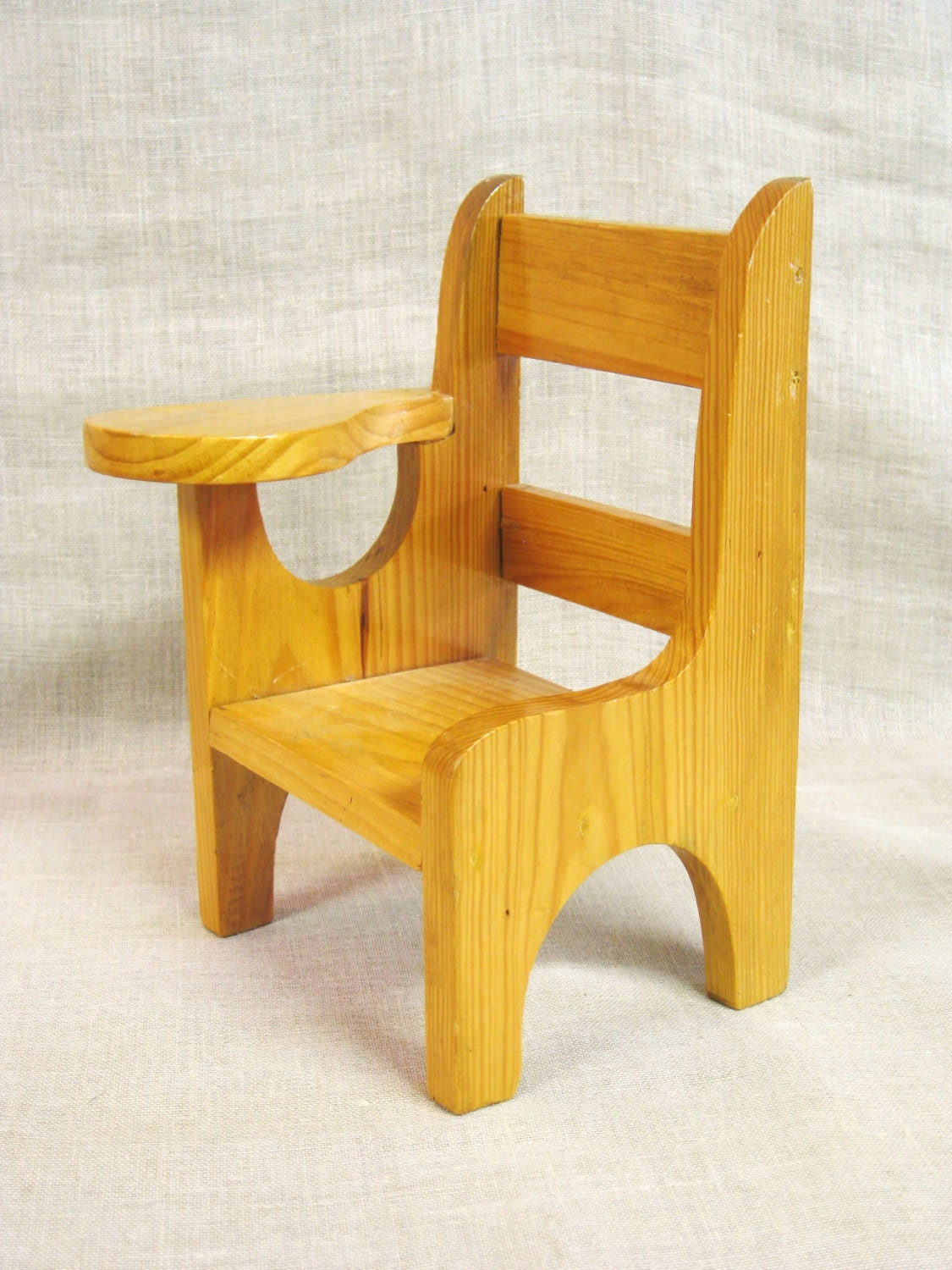 Doll Furniture School Desk Doll Chair Miniature Chair Handmade Wooden Doll Chair