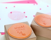 Baby Announcement Stamp, Baby Name Stamp, Thank you stamp, Date Stamp, Baby Stamp, Floral Stamp, New Baby, It's a girl, Birth Announcement