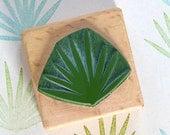 Botanical rubber stamp: Palm leaf