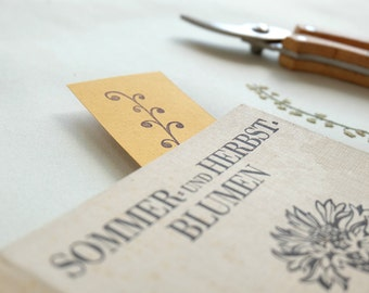 Botanical rubber stamp: Curly plant