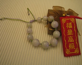 PURPLE DOT ...  Natural Jade Bracelet  ...  Handknotting Jewelry
