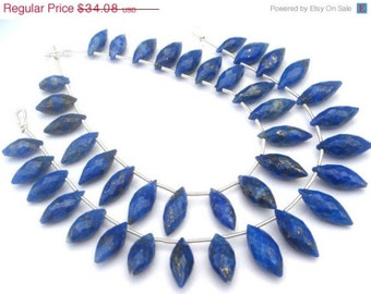 Lapis Lazuli Faceted Dew Drops Semi Precious Gemstone Beads (Quality A) / 20 Pieces / CODE 113