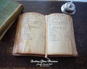 Miniature Open Book Antique Ledger for Dollhouse 1/12 Scale
