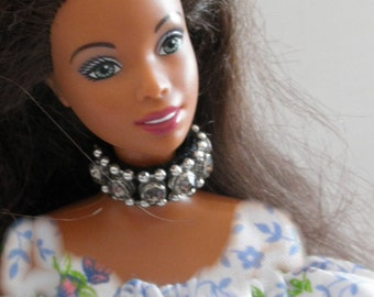 NECKLACE Rhinestone Choker  Barbie Skipper 11 in dolls