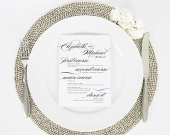 Wedding Menu - Marriage Design A Deposit