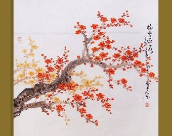 Original painting chinese art -Lovely cherry blossom tree No.33