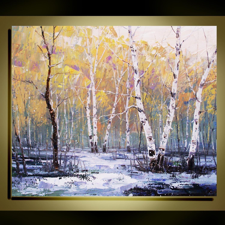 Original Oil Painting Modern Palette Knife Landscape Fine Art