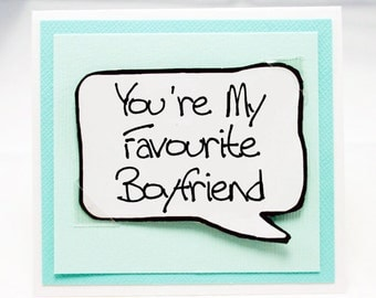 Funny Boyfriend Note Card. Boyfriend Card. Funny Love You Card. Anniversary for Guys. MN193