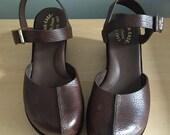 Kork Ease platforms wedges leather sandals 10 new vintage condition