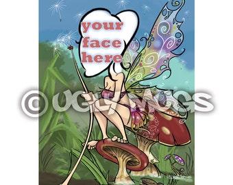 Custom Fairy & Mushroom Fantasy Caricature