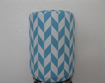 Arrow Stripes -5 Gallon Cooler Decor-white and Blue