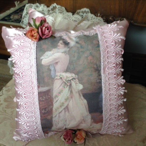 Victorian Era Pillows : Throw pillow with image of a Victorian lady at by cindysvictorian