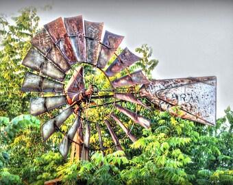 Rustic Weathervane Photo Vintage Windmill Amerciana Midwest