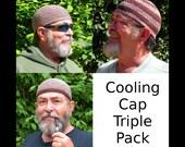 Mens Cotton Cooling Cap Triple Pack: Chocolate Twist