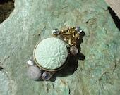 Peppermint Cream bindi, re-useable festival/ bellydance body jewellery. tikka.