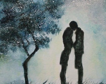 Original Watercolor Painting- Love- Great Valentine's Gift
