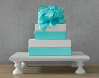 """12"""" Cake Stand Square Wedding Cake Stand Rustic Cupcake Grooms Cake Wedding Decor E. Isabella Designs Featured In Martha Stewart Weddings"""