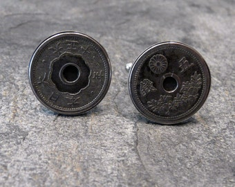 Antique Japanese Coin Cufflinks