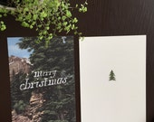 Woodsy Vintage Merry Christmas Card