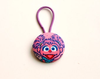 Giant Fabric Abby Cadabby Covered Button Pony Holder