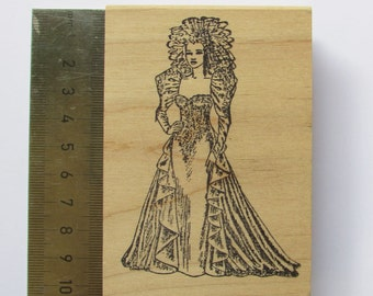 Wood mounted bride stamp