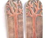 Tree Earrings copper Silver Mixed Metals
