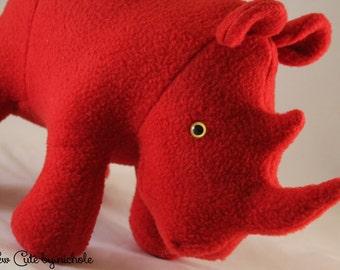Plush Red Rhinoceros