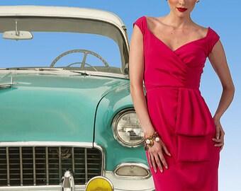Butterick B5814 - 50's Inspired Dress Pattern by GERTIE - Misses' Close Fitting Dress - SZ 6 thru 14