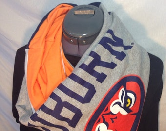 Auborn University Recycled T Shirt Infinity Scarf