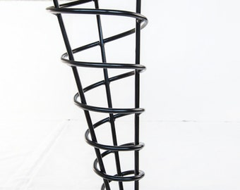 Bench or Coffee Table Legs, Modern Spiral Cone 16-inch Height, Stronger Than Hairpin, Single Leg, Angled