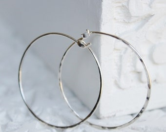 Hoop earrings - silver hoop earrings