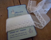 Vintage Lace Trim Pale Blue Romantic Sheer Sewing Supply Winsome Lady Trimmings New Jersey AMarigoldLife