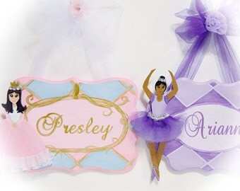 Personalized Girls Princess Ballerina Name Plaque