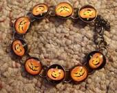 Jack O Lantern image Bracelet