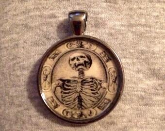 Skeleton Image Pendant Necklace-FREE SHIPPING-