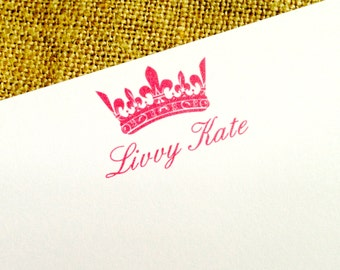 Personalized Stationery Custom Stationary- Crown
