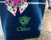 CTR Scripture bag- denim- Personalized at NO additional charge