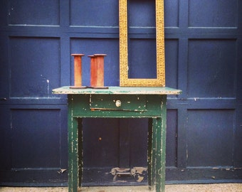 """Wooden Table / Painted Wooden Table / Shaker Style / Green / 30"""" x  23"""" X 30.5"""""""