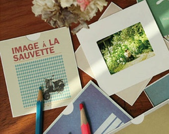 Mini Design Photo Frames Ver. 1 - 10 sheets (3.5 x 3.7in)