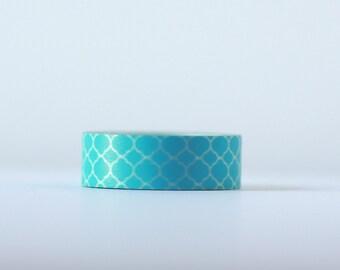 Moroccan Blue  Washi Tape-  Single Roll 15 mm x 10 m