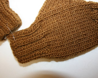 Handmade Unisex hand knitted fingerless gloves