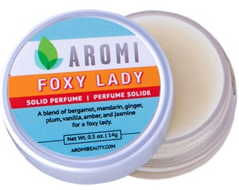 Solid Perfume, Foxy Lady.   Floral Perfume.  Women's Solid Perfume. Women's Fragrance.  Solid Fragrance.